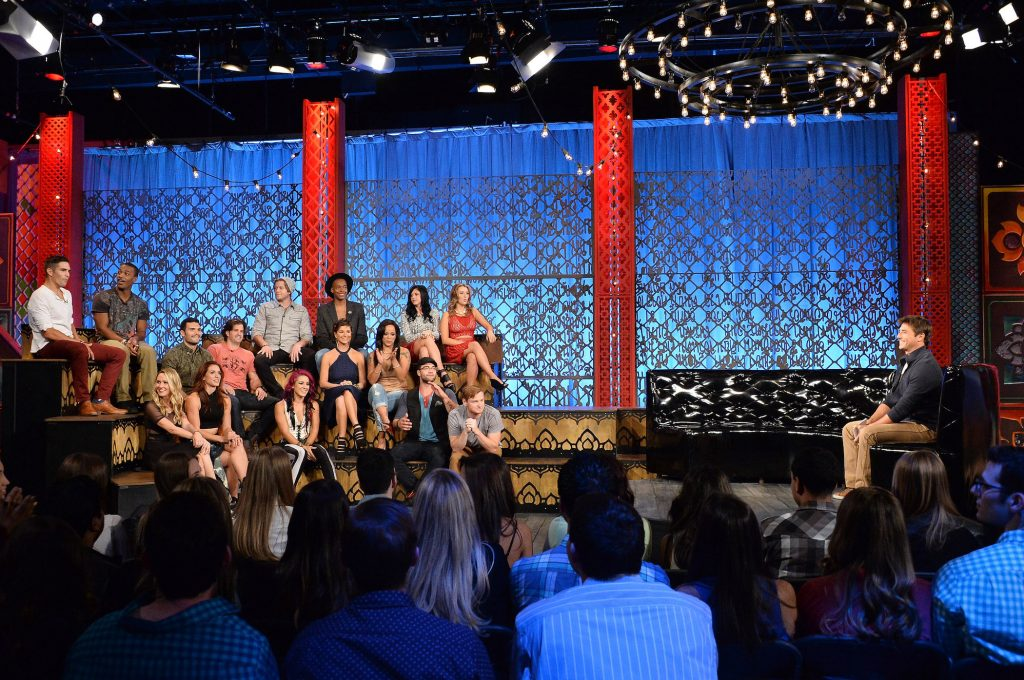 The cast of MTV's 'The Challenge: Rivals II' sitting together at the reunion special