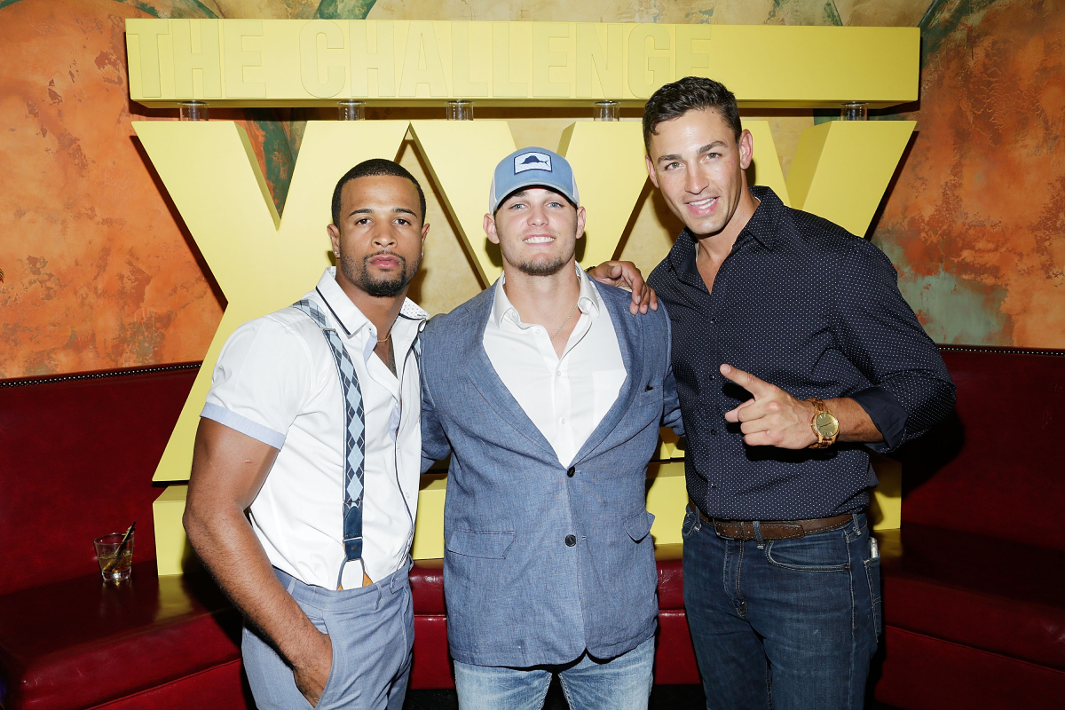 Nelson Thomas, Hunter Barfield and Tony Raines attend The Challenge XXX: Ultimate Fan Experience Q & A and Reception at The Roxy Hotel on July 17, 2017