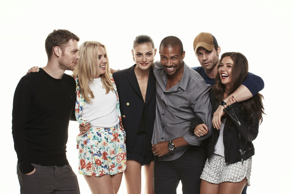 'The Originals' cast in front of a white background
