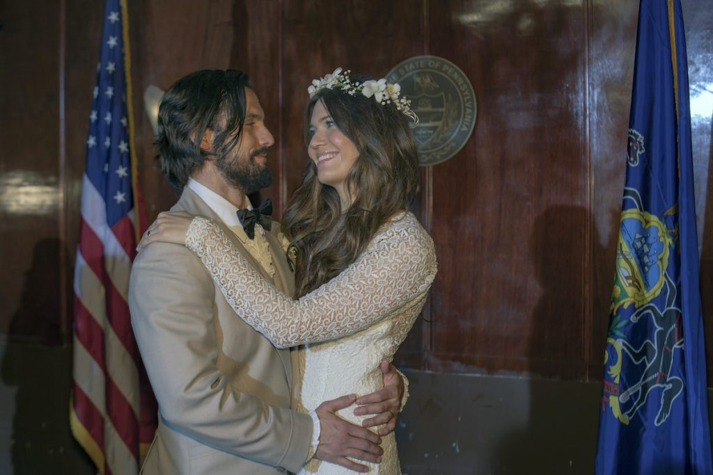 Milo Ventimiglia as Jack Pearson, Mandy Moore as Rebecca Pearson on 'This Is Us