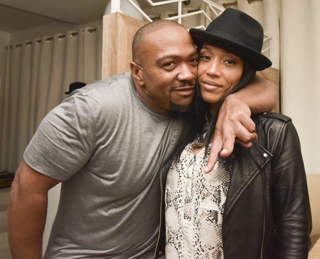 Timbaland (L) and Monique Idlett