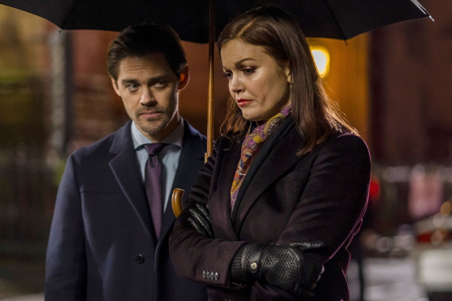 Tom Payne and Bellamy Young in 'Prodigal Son'