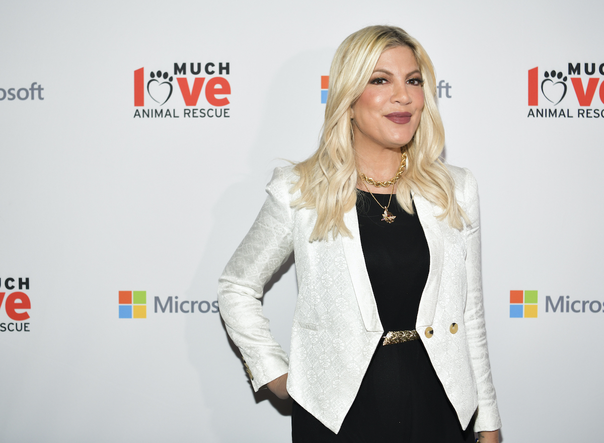 Tori Spelling attends the Much Love Animal Rescue 3rd Annual Spoken Woof Benefit in 2019