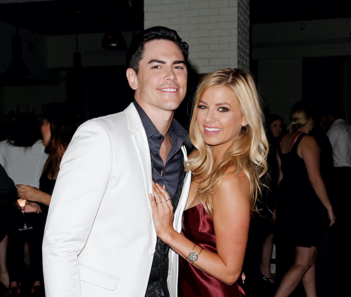 Tom Sandoval and Ariana Madix attend the Vanderpump Rules premiere party in 2015