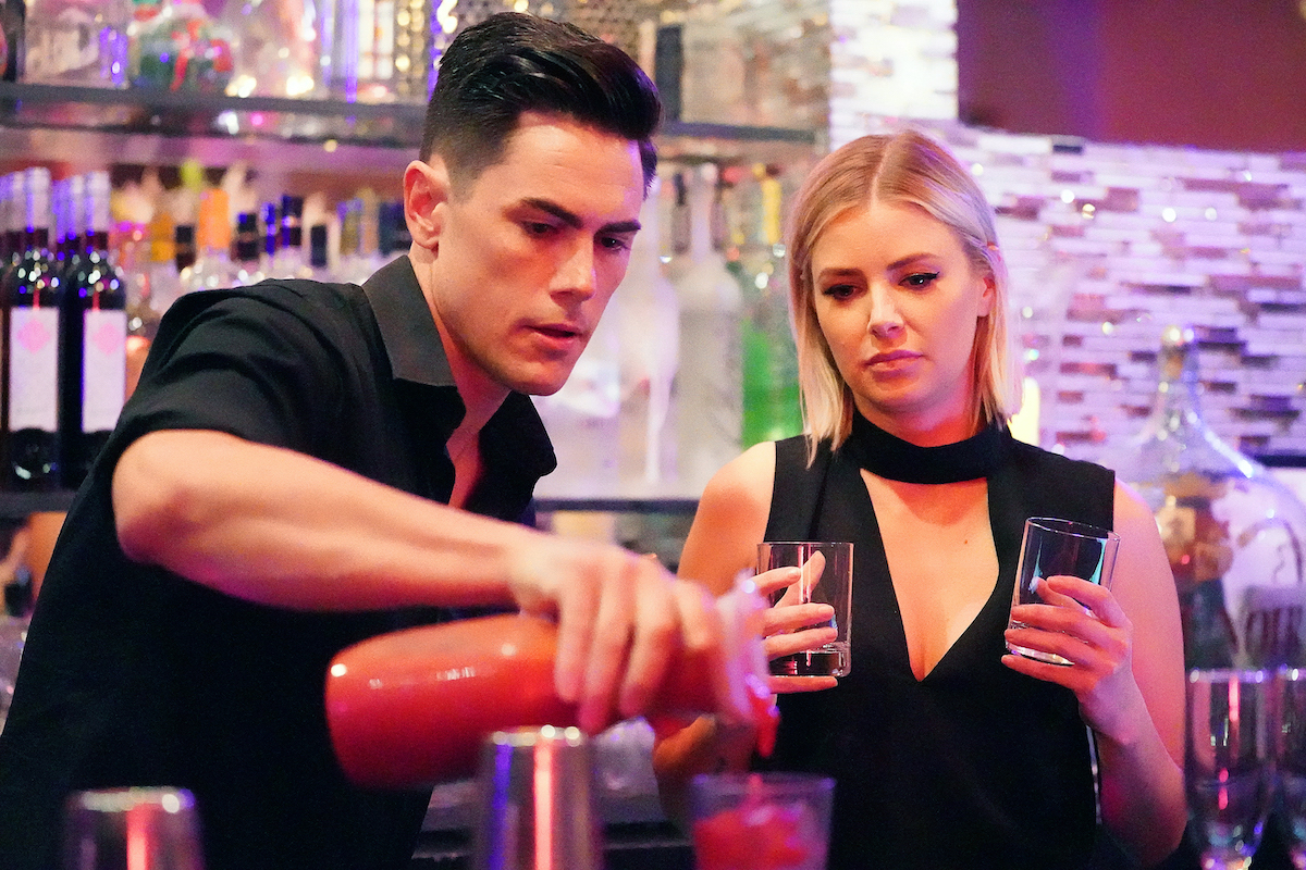 Tom Sandoval and Ariana Madix work behind the bar at SUR