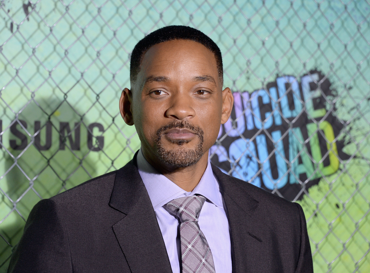 Will Smith wears a suit at the 'Suicide Squad' world premiere in 2016