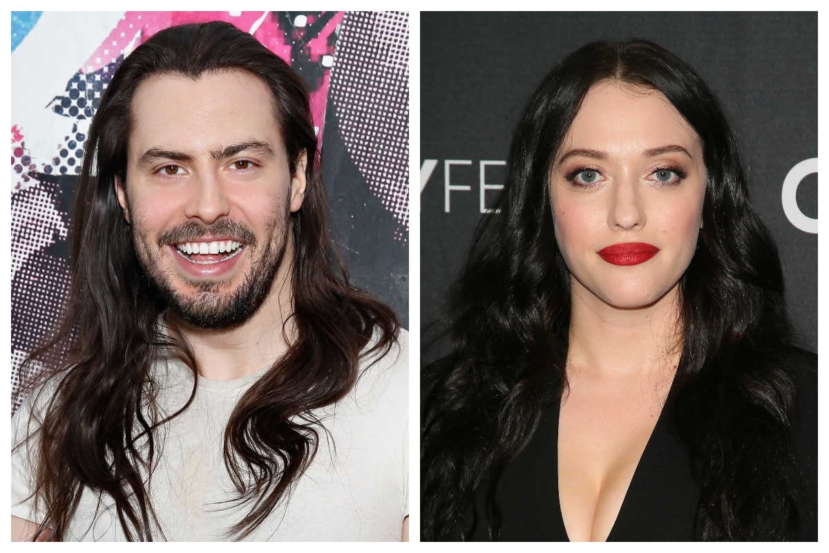 composite image of Andrew W.K. and Kat Dennings