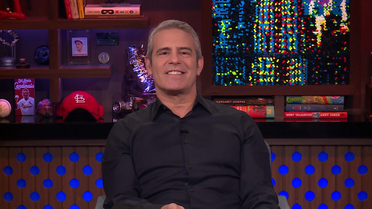Andy Cohen hosting 'Watch What Happens Live' on Bravo
