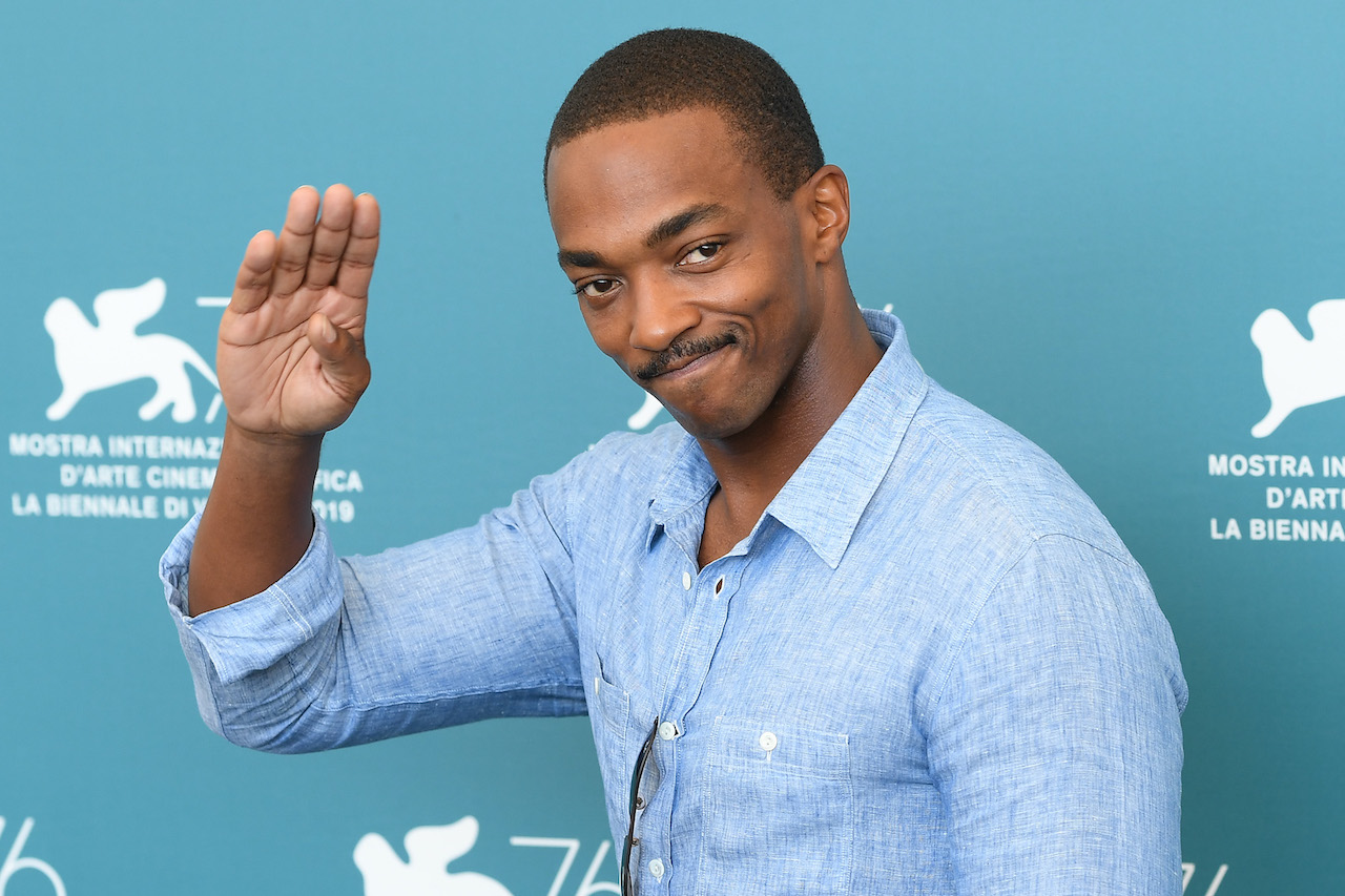 """Anthony Mackie attends """"Seberg"""" photocall during the 76th Venice Film Festival"""