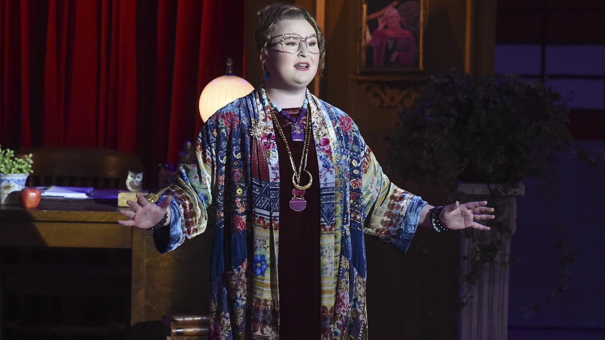 Julia Lester as Ashlyn (as Ms. Darbus) in 'HSMTMTS' season 1   Disney+