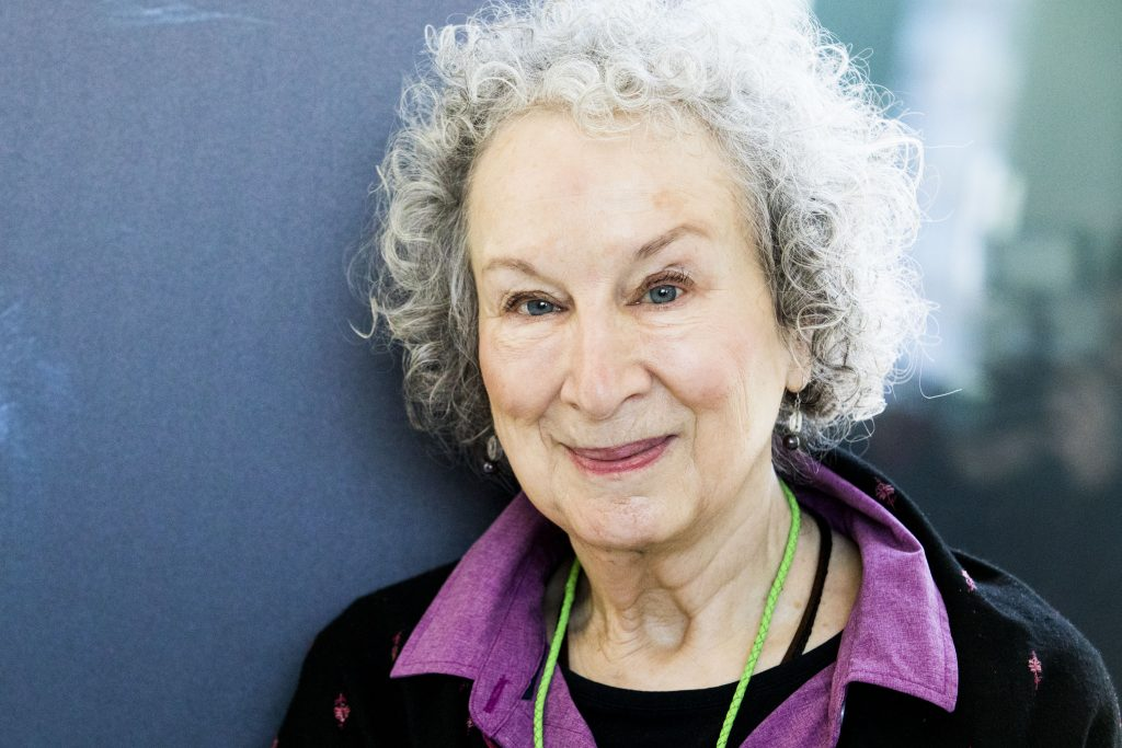 The Handmaid's Tale author Margaret Atwood smiling