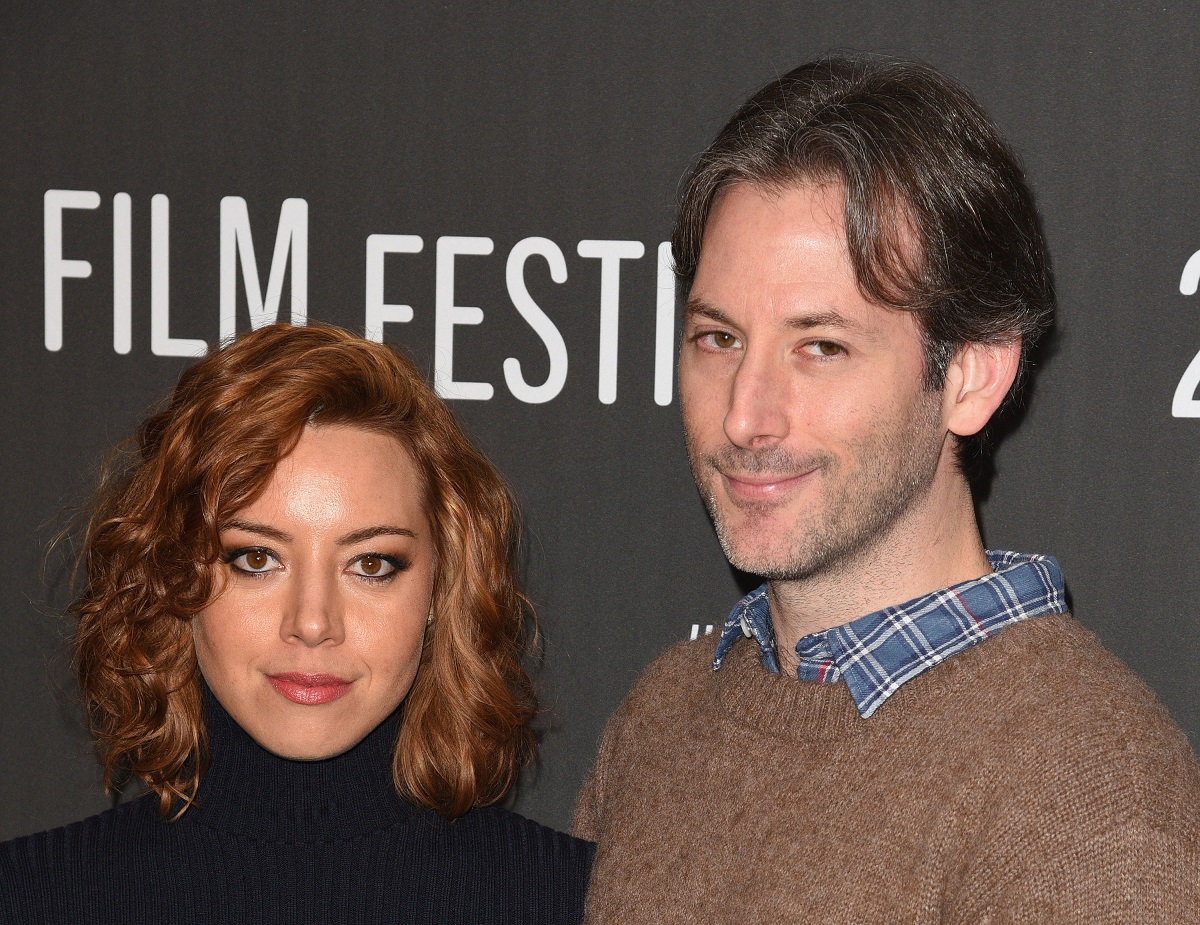 Aubrey Plaza (L) and Jeff Baena attend 'The Little Hours' premiere on January 19, 2017, in Park City, Utah.