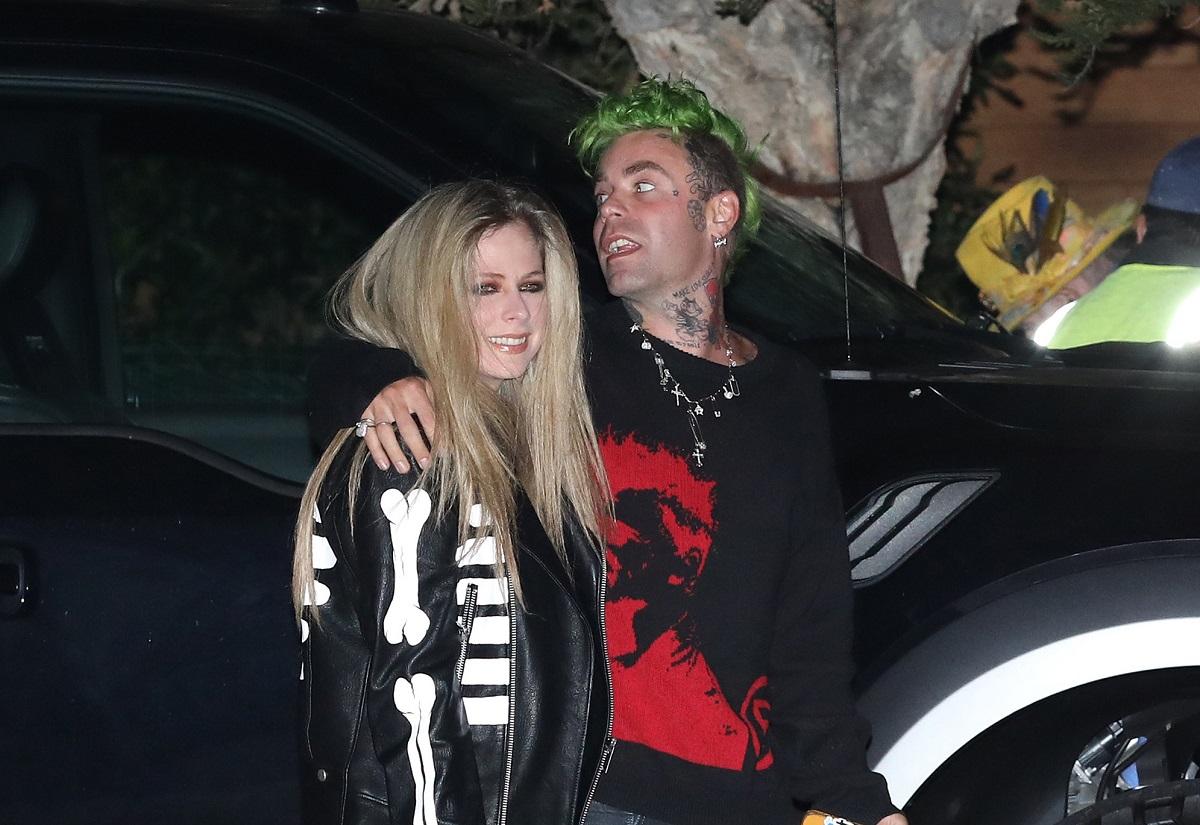Avril Lavigne and Mod Sun at Soho House on April 7, 2021, in Malibu, California.