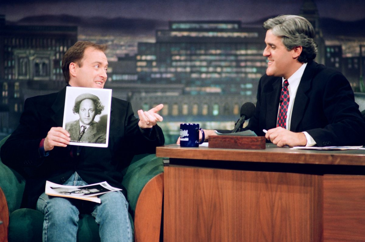 Voice actor Billy West during an interview with host Jay Leno