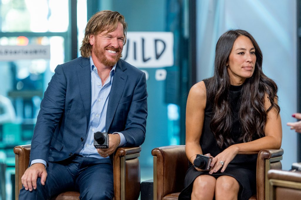 Chip and Joanna Gaines during an interview in NYC in 2017