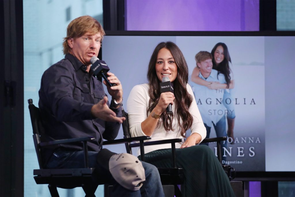Chip and Joanna Gaines during an interview in 2016