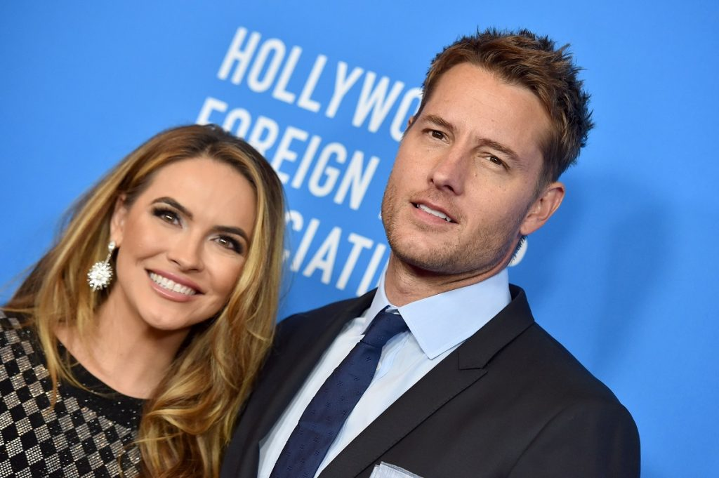 Chrishell Stause and Justin Hartley attend the Hollywood Foreign Press Association's Annual Grants Banquet on July 31, 2019, in Beverly Hills, California.
