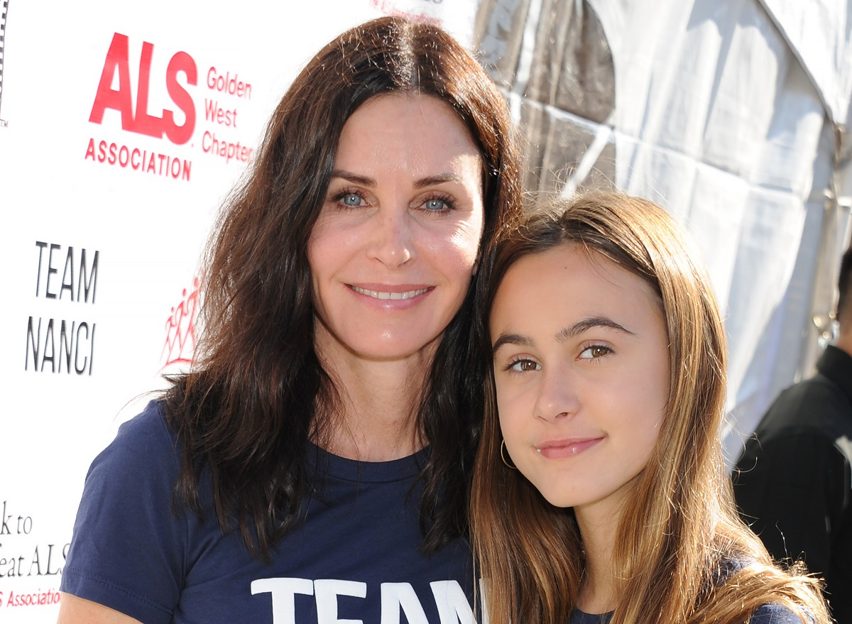Courteney Cox and daughter Coco Arquette on October 15, 2017, in Los Angeles, California.