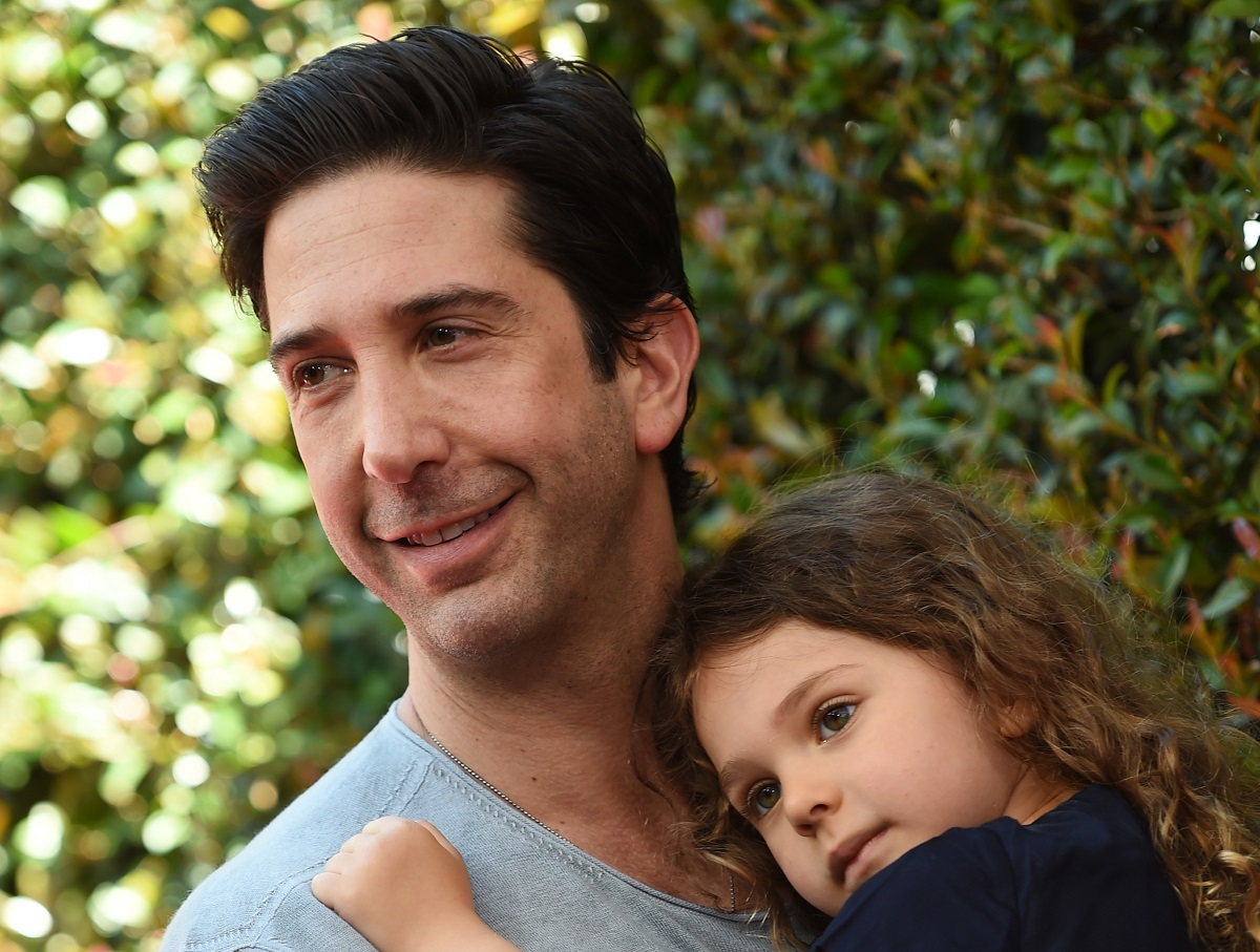 David Schwimmer and his daughter Cleo Buckman Schwimmer on April 26, 2015, in Los Angeles, California.