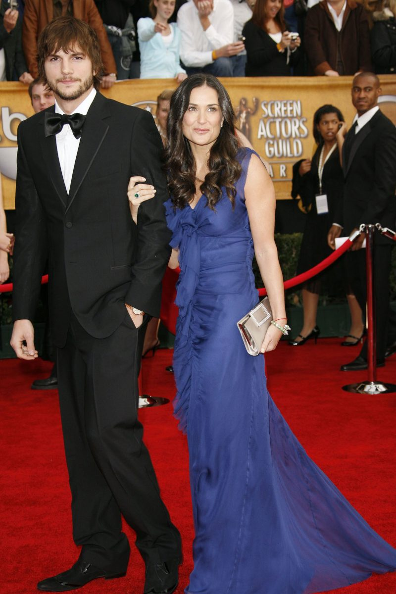 Demi Moore and Ashton Kutcher arrive at he 13th annual Screen Actors Guild Awards show