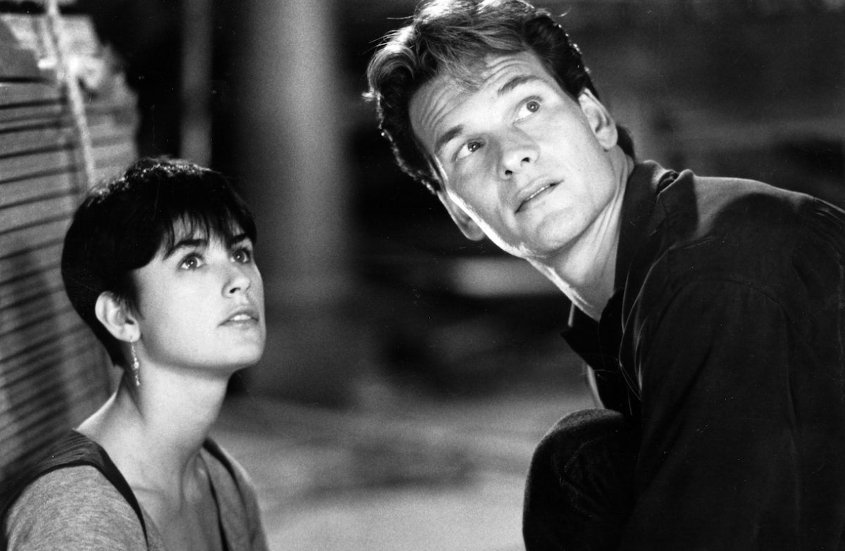 """Circa 1990- Patrick Swayze and Demi Moore star as Sam Wheat and Molly Jensen in the suspense thriller """"Ghost"""", directed by Jerry Zucker"""