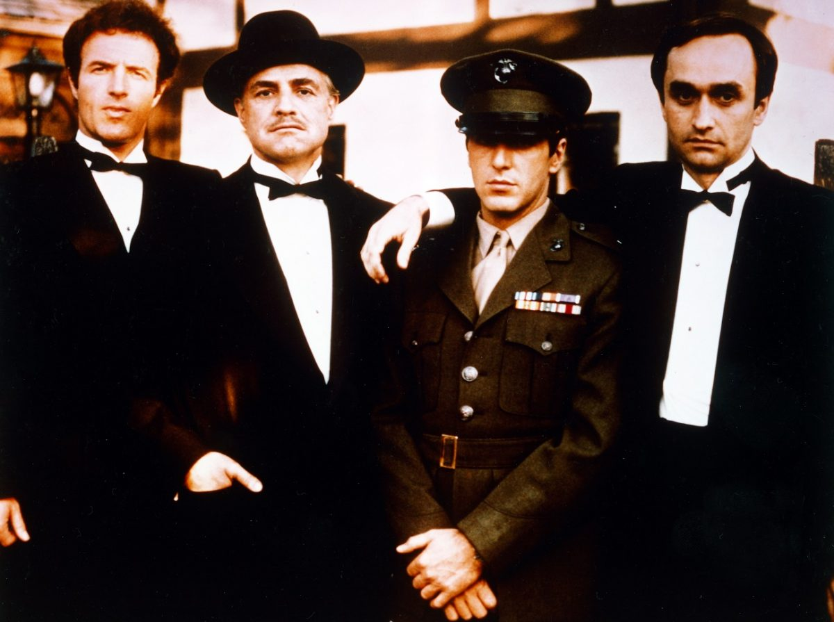 Publicity photo featuring the male leads of 'The Godfather'