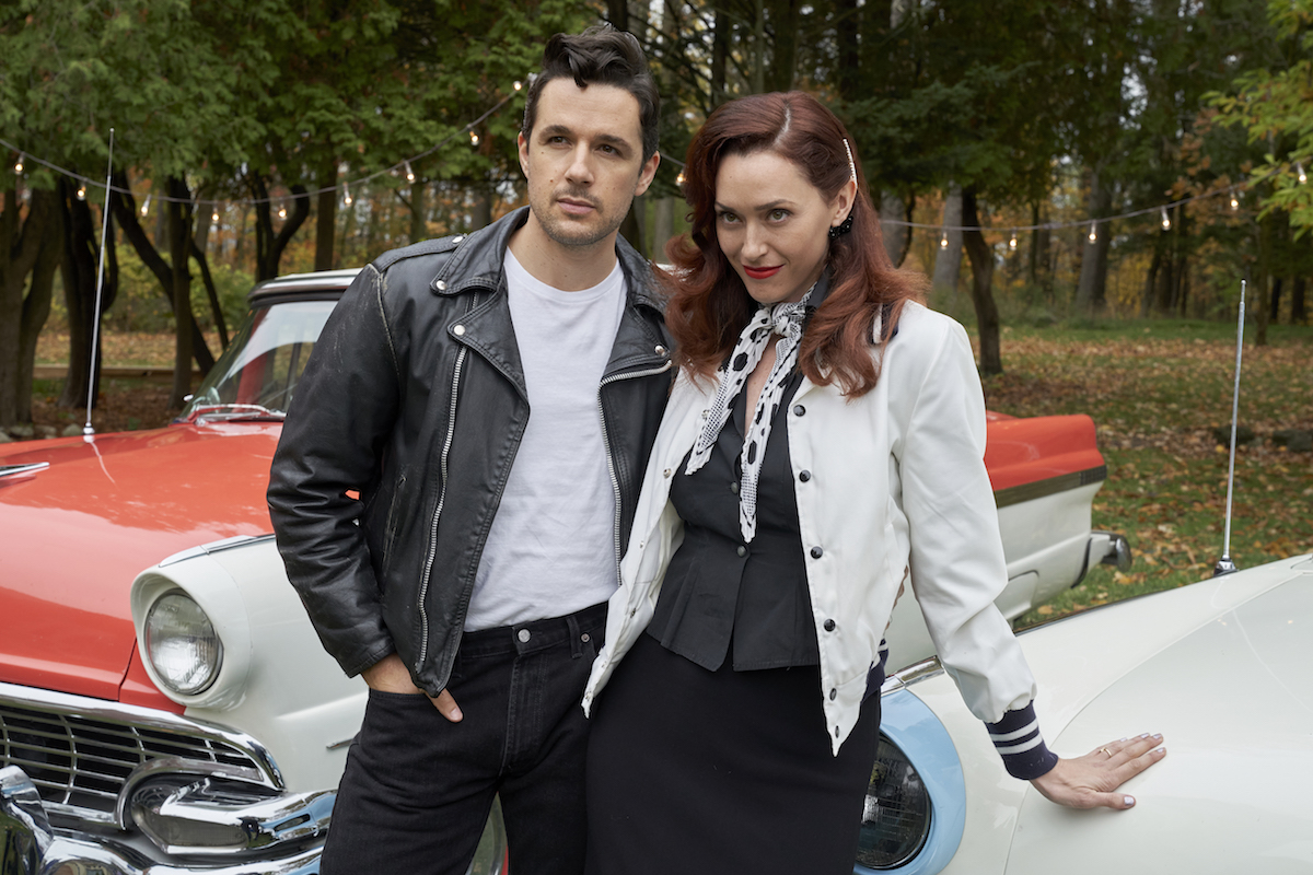 Donovan and Abigail wearing 1950s style clothing in an episode of Good Witch