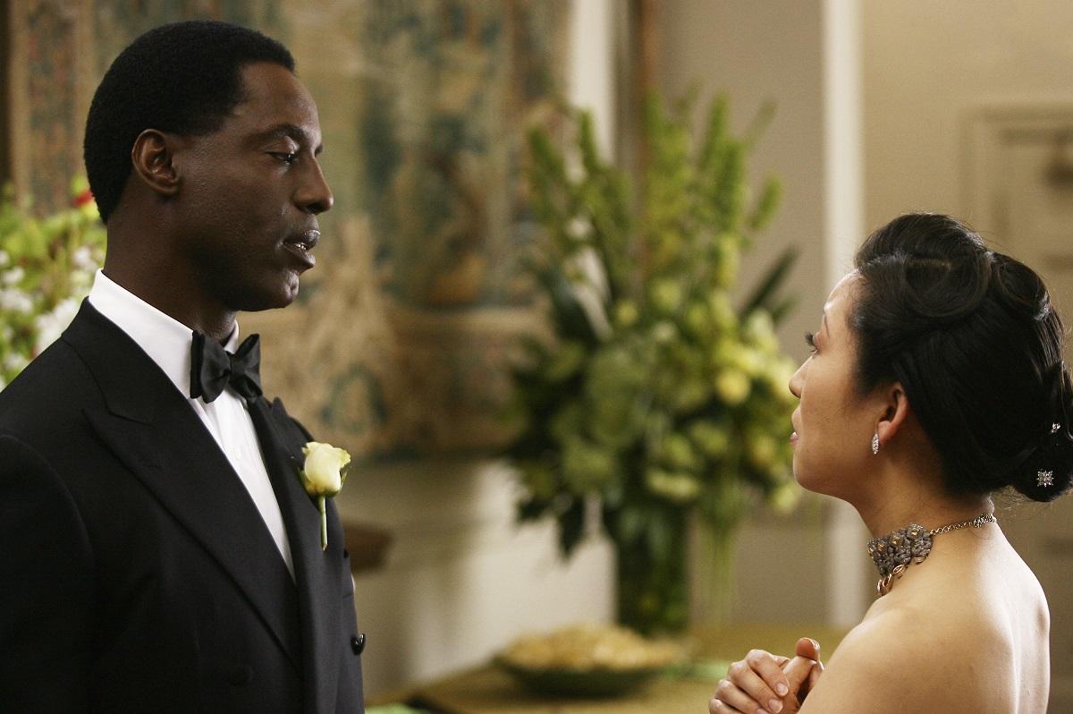 Isaiah Washington as Preston Burke and Sandra Oh as Cristina Yang in 'Grey's Anatomy' Season 3