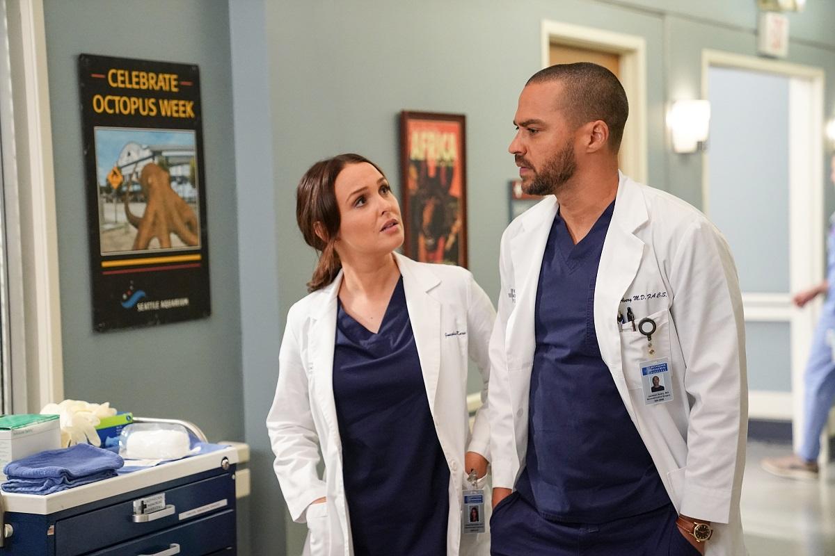 Camilla Luddington as Jo Wilson and Jesse Williams as Jackson Avery in 'Grey's Anatomy'