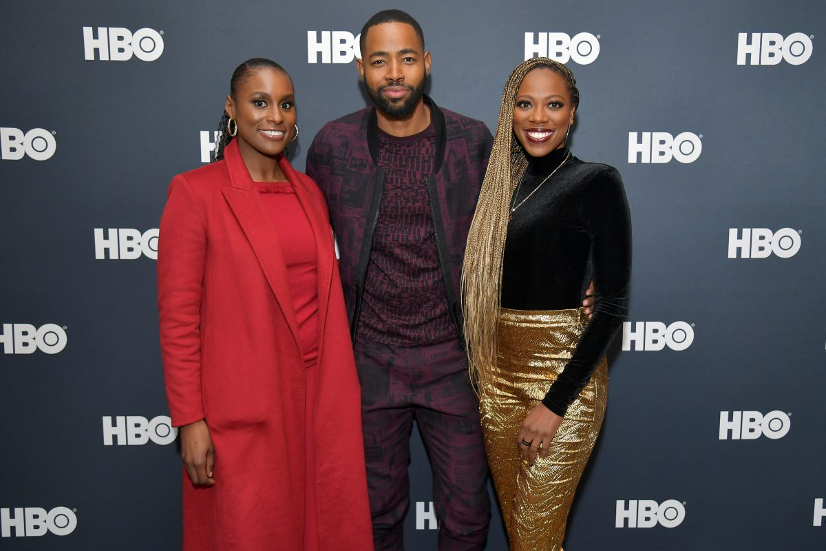 Issa Rae, Jay Ellis, and Yvonne Orji at an HBO event in January 2020