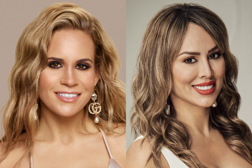 Jackie Goldschneider from 'RHONJ' and Kelly Dodd from 'RHOC' in their respective cast photos