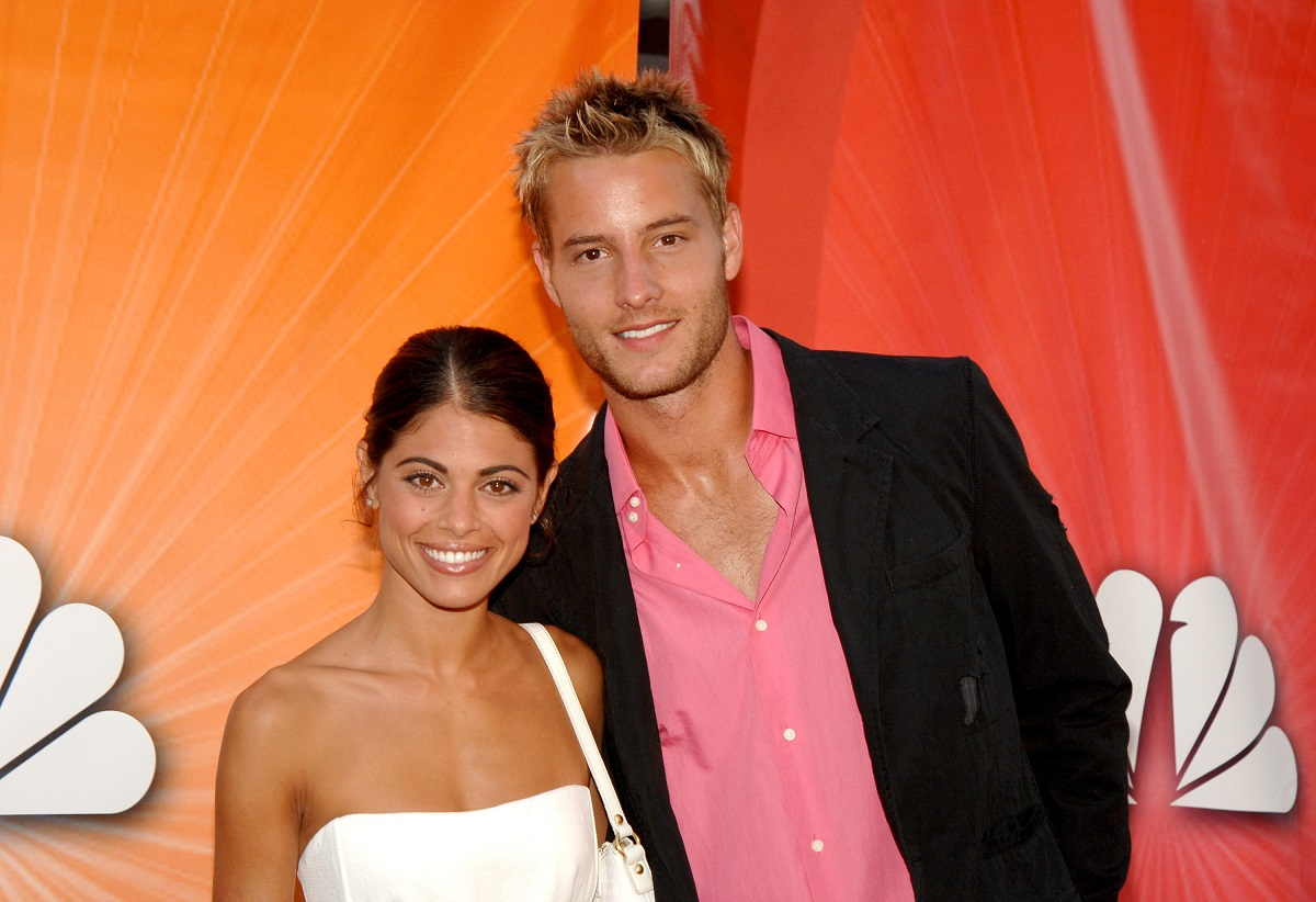 Lindsay Korman-Hartley and Justin Hartley during 2005 NBC Network All Star Celebration in Los Angeles, California, United States.