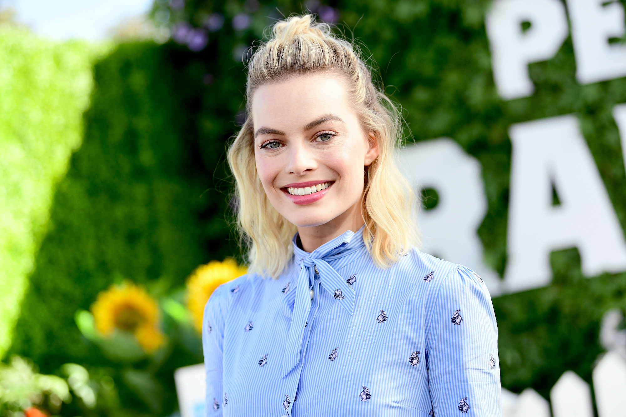 Margot Robbie attends the photo call for Columbia Pictures' 'Peter Rabbit' at The London Hotel on February 2, 2018
