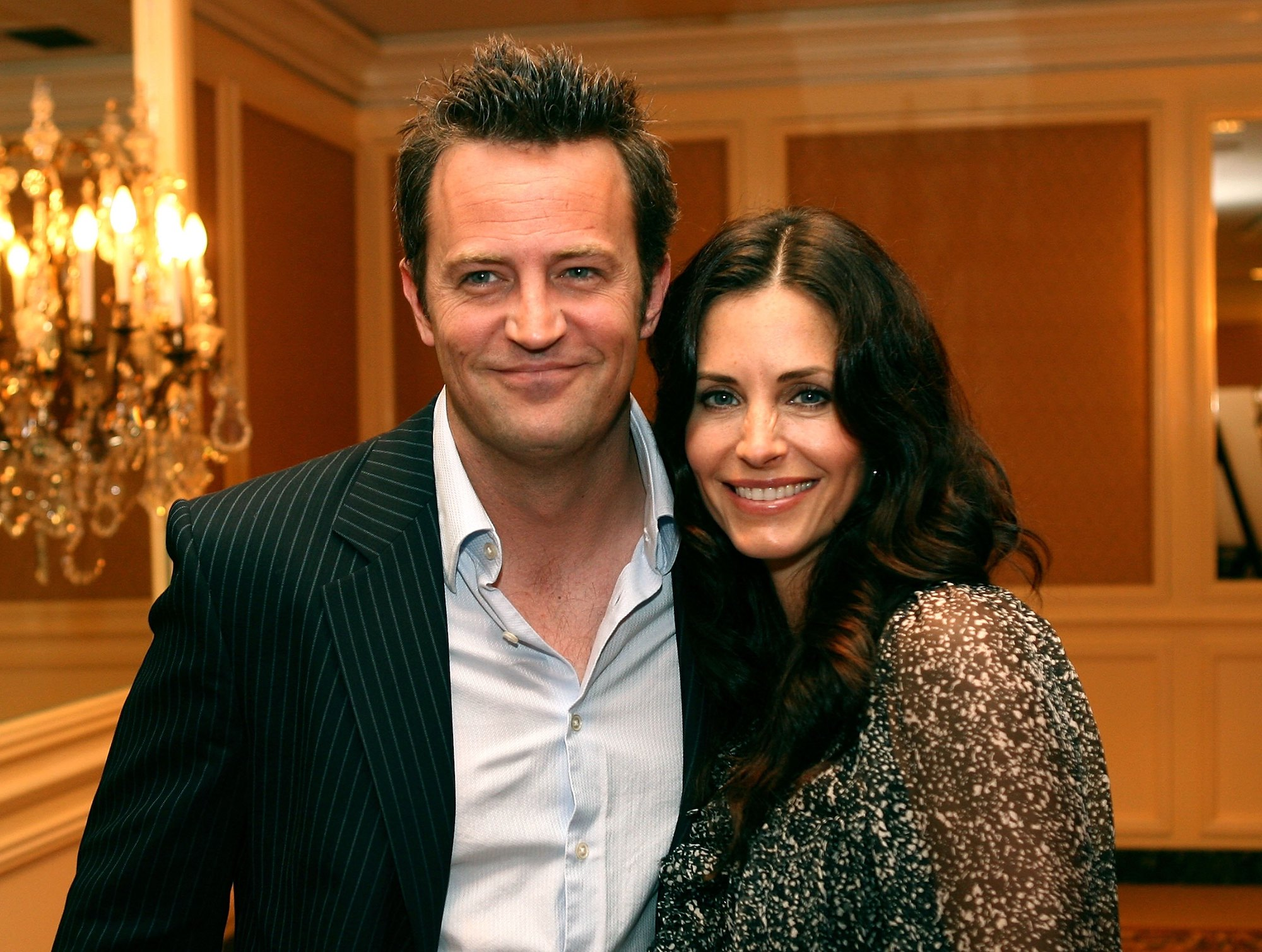 Matthew Perry and Courteney Cox at the AFI Associates luncheon on May 10, 2006.
