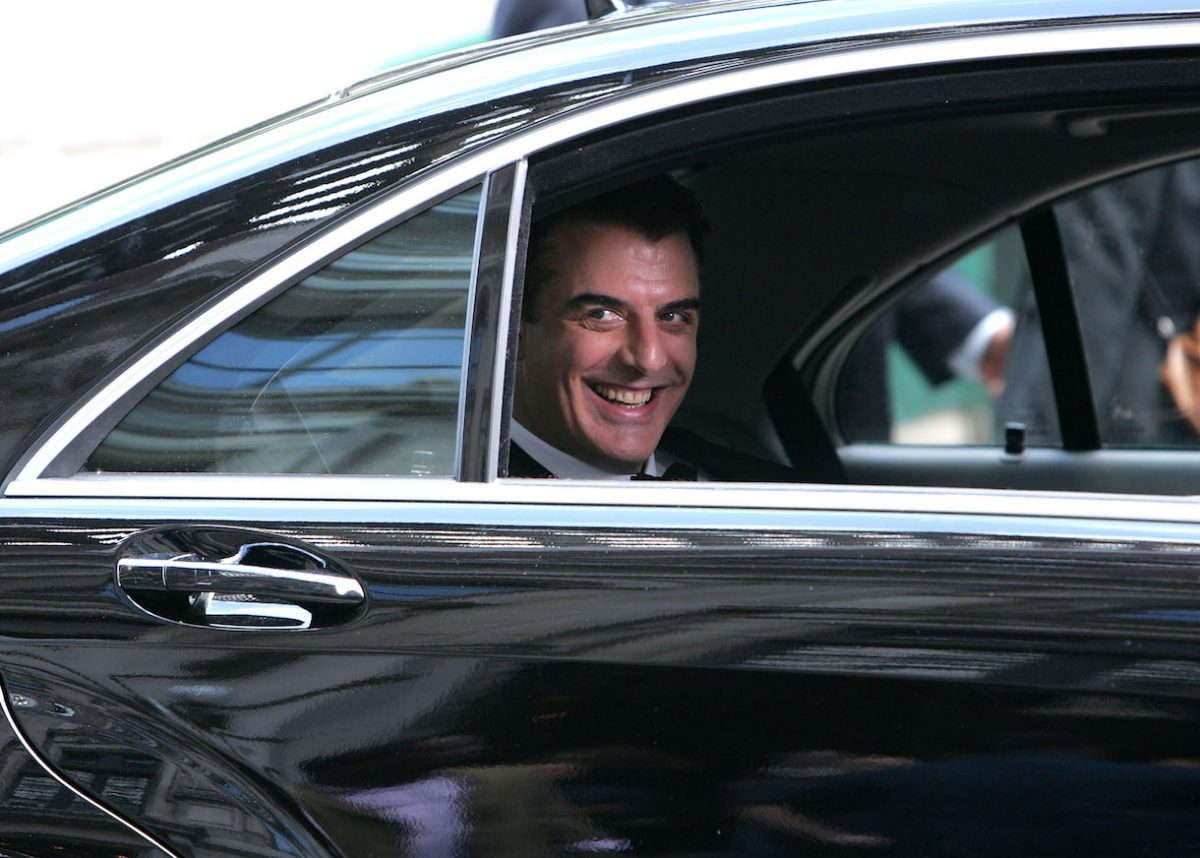 Chris Noth on the set of 'Sex and the City: The Movie'