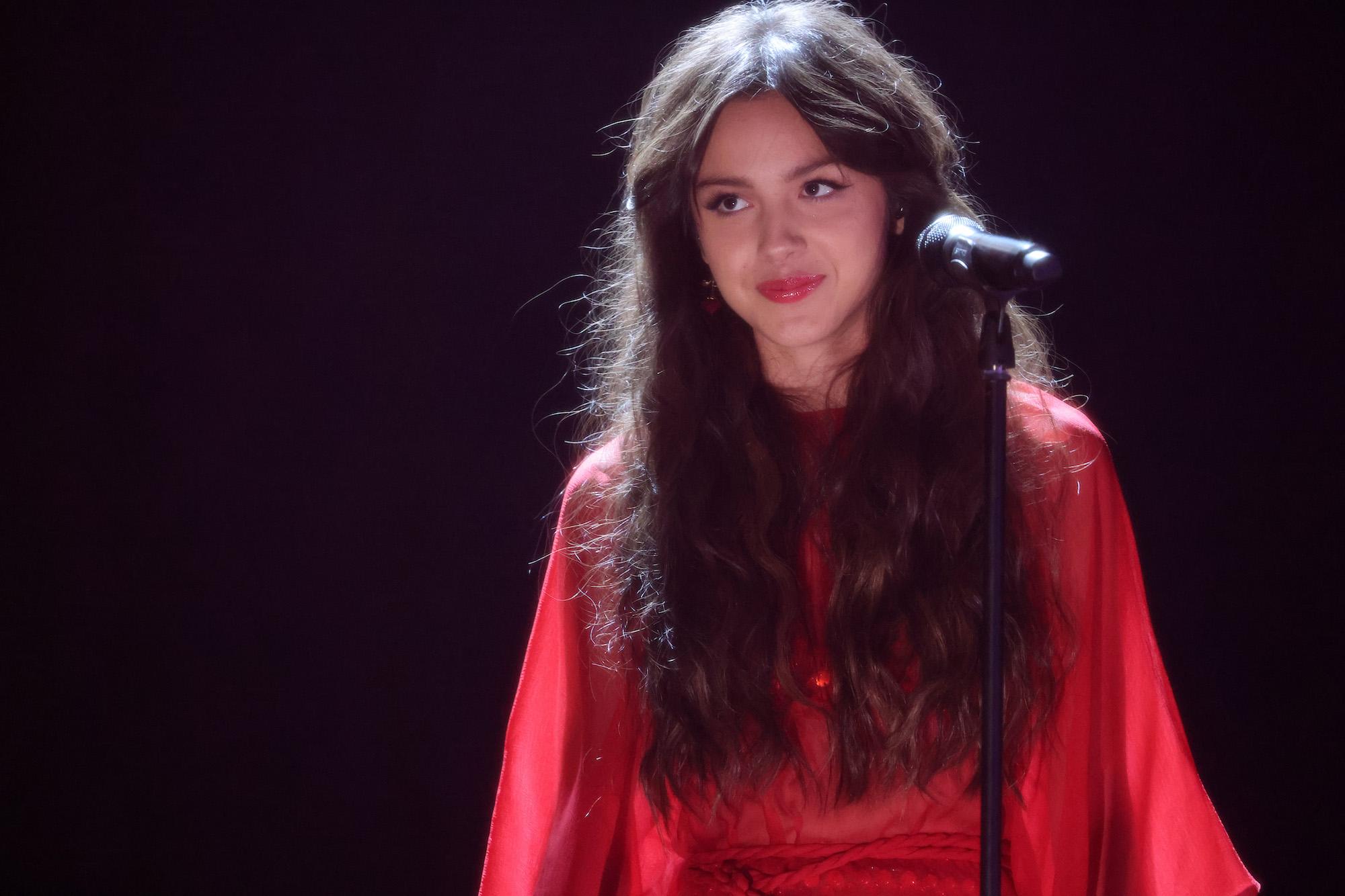 Olivia Rodrigo performs during The BRIT Awards 2021 at The O2 Arena on May 11, 2021