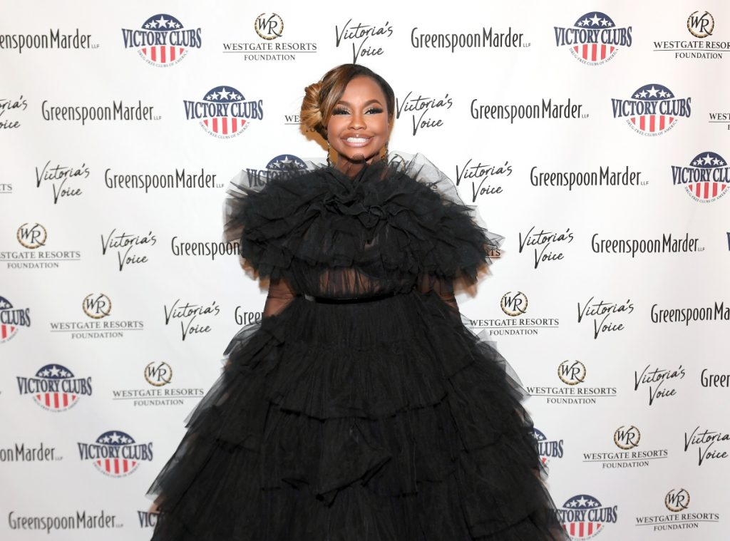 Phaedra Parks attends 'Victoria's Voice - An Evening to Save Lives' event on October 25, 2019