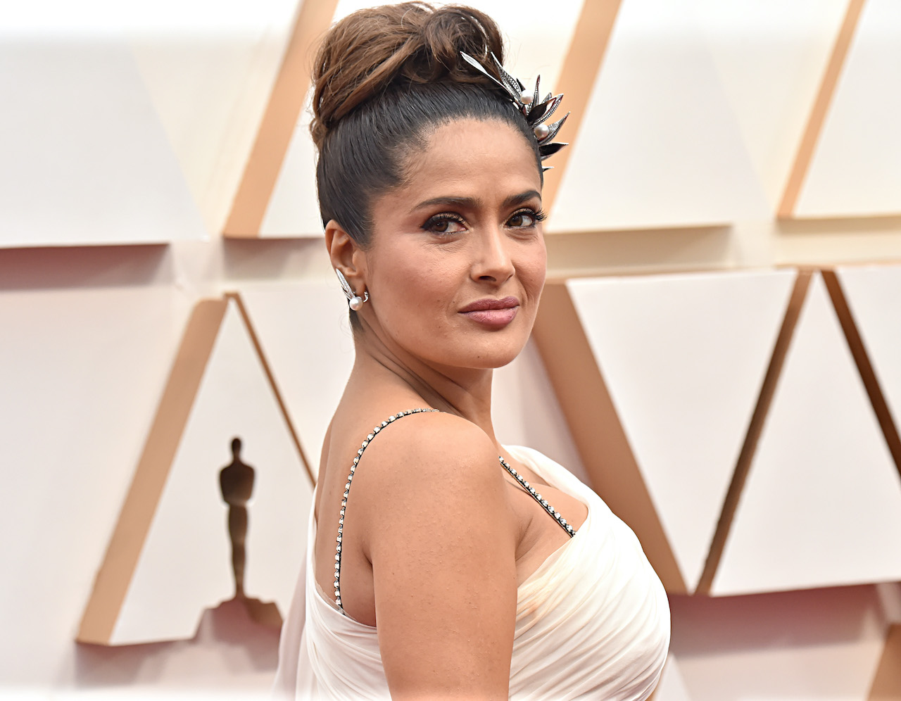 Salma Hayek attends the 92nd Annual Academy Awards at Hollywood and Highland