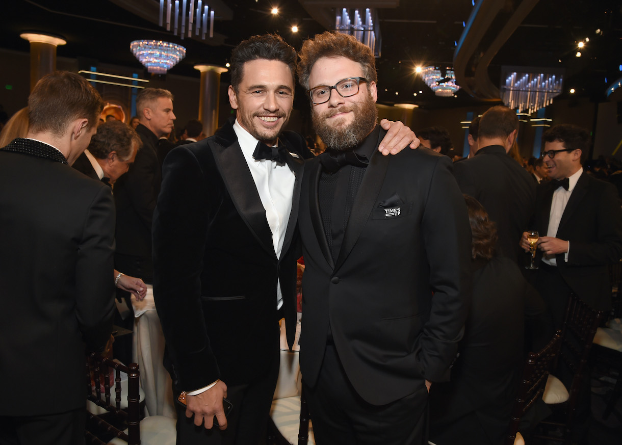 Who has the higher net worth, James Franco or Seth Rogen