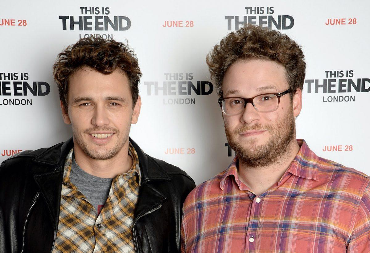 Actors James Franco and Seth Rogen