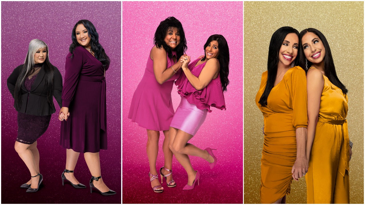 Side by side portraits of Sunhe and Angelica; Christina and Kathy; and Cher and Dawn from 'sMothered' Season 3