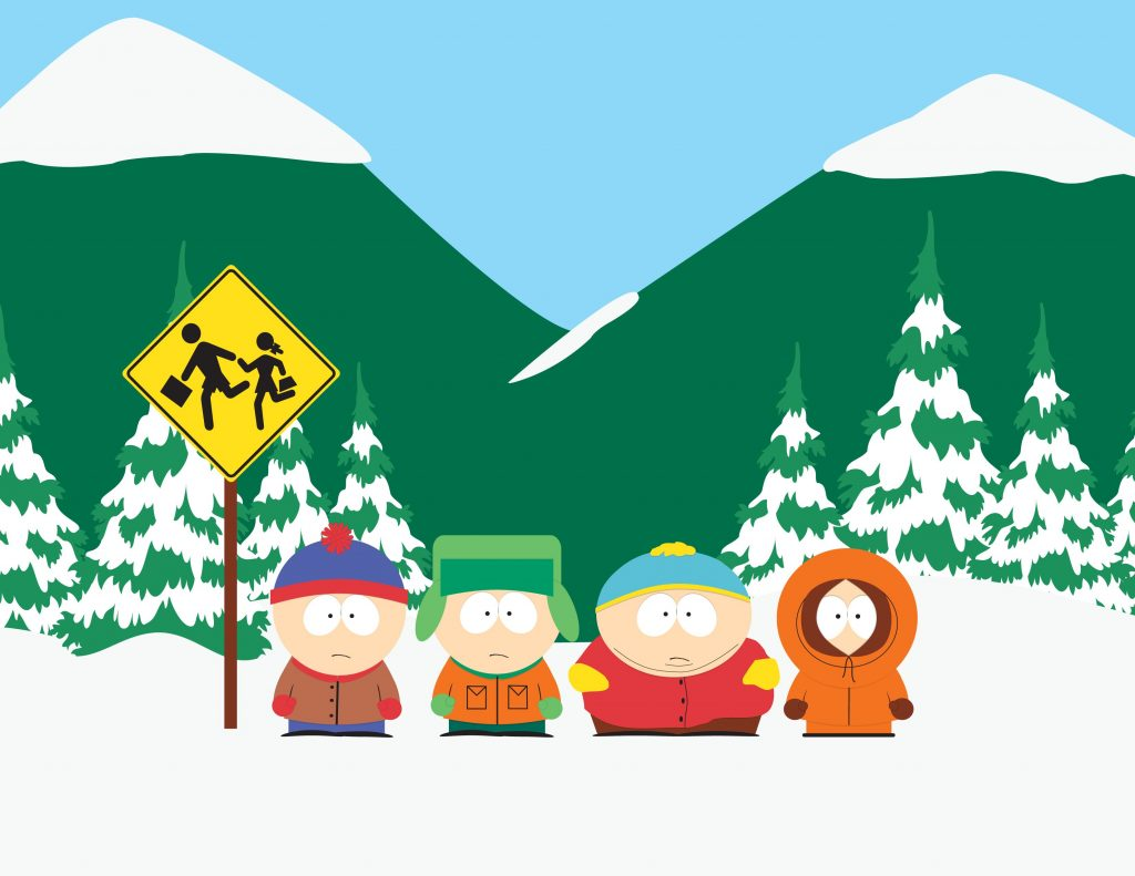 South Park: Stan, Kyle Cartman and Kenny wait at the bus stop