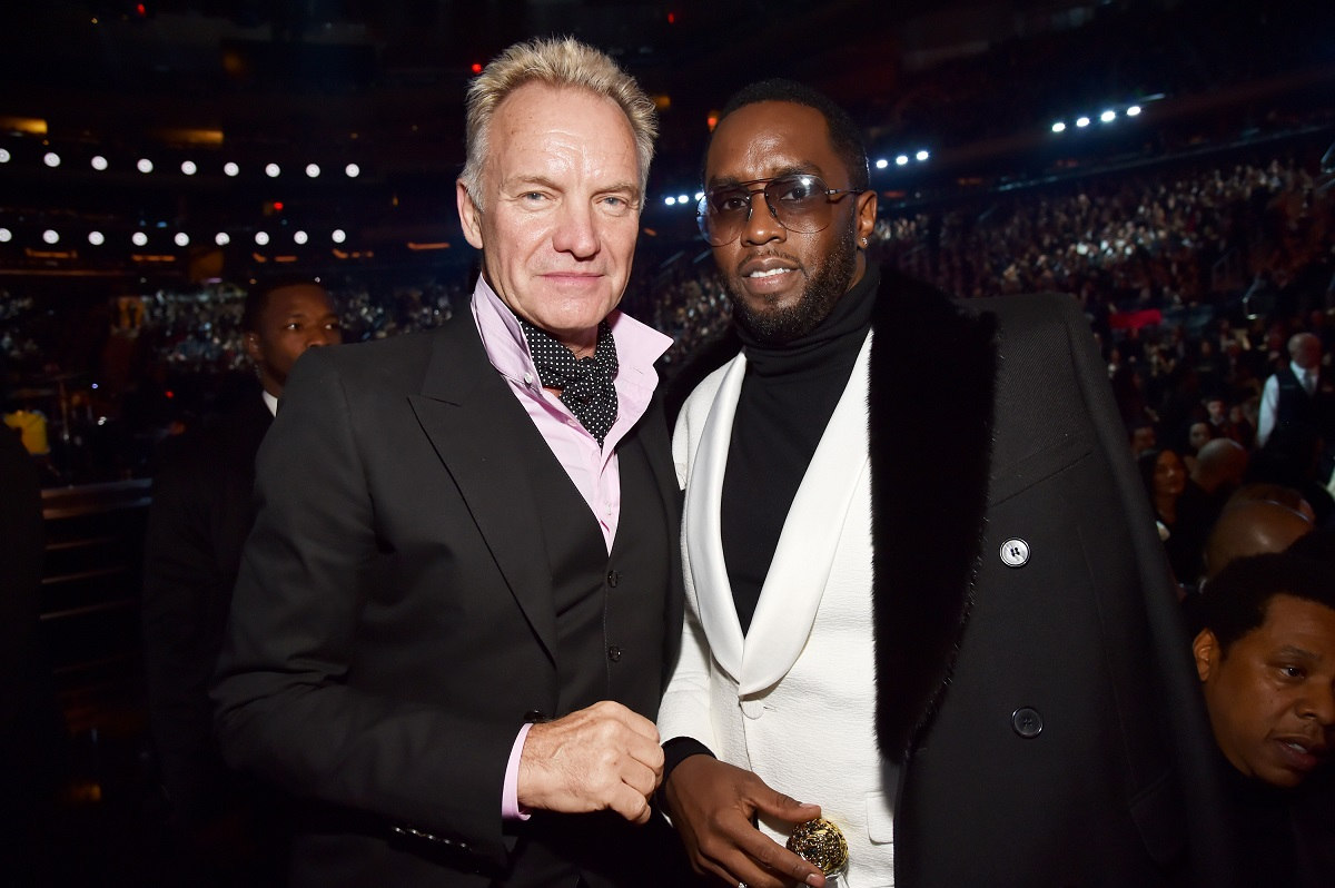Sting and Sean 'Diddy' Combs attend the 60th Annual GRAMMY Awards on January 28, 2018, in New York City.