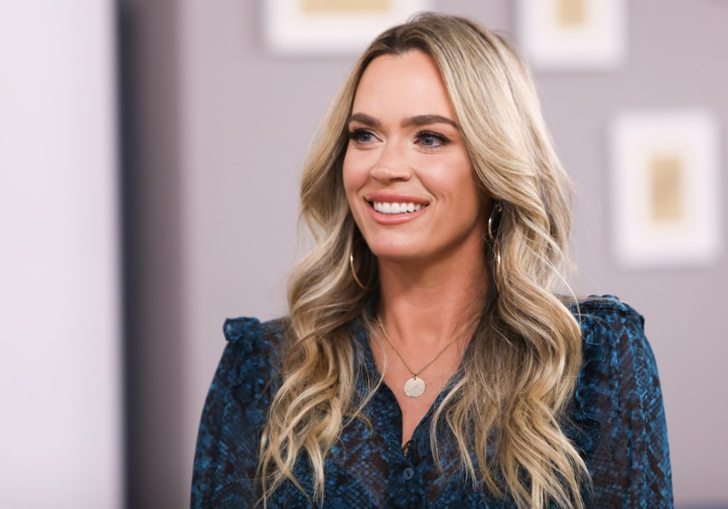 Teddi Mellencamp on the set of 'Home and Family' in 2021