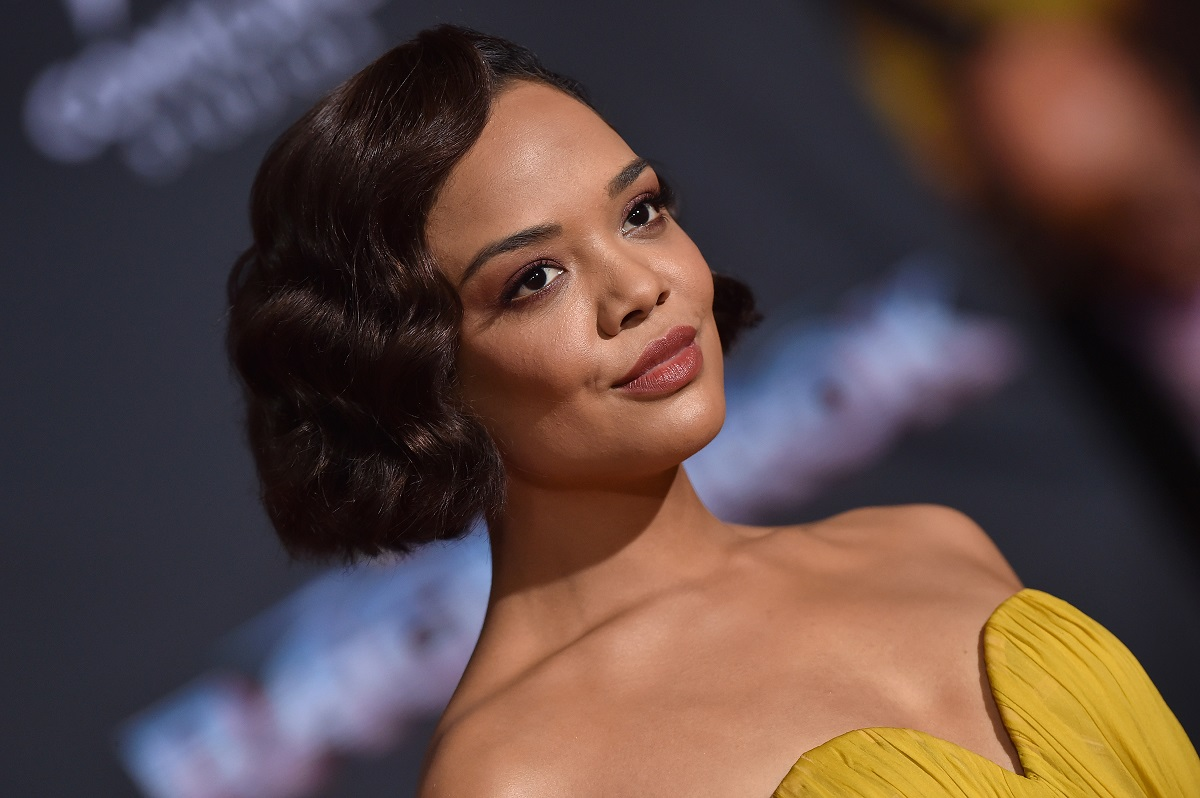 Tessa Thompson arrives at the premiere of Disney and Marvel's 'Thor: Ragnarok' on October 10, 2017, in Los Angeles, California.