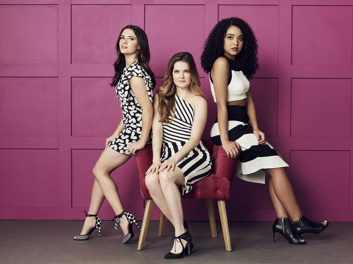 Freeform 'The Bold Type' stars Katie Stevens as Jane Sloan, Meghann Fahy as Sutton Brady, Aisha Dee as Kat Edison.