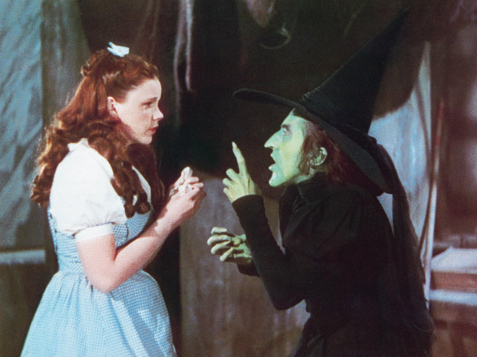 Judy Garland, Margaret Hamilton in The Wizard of Oz