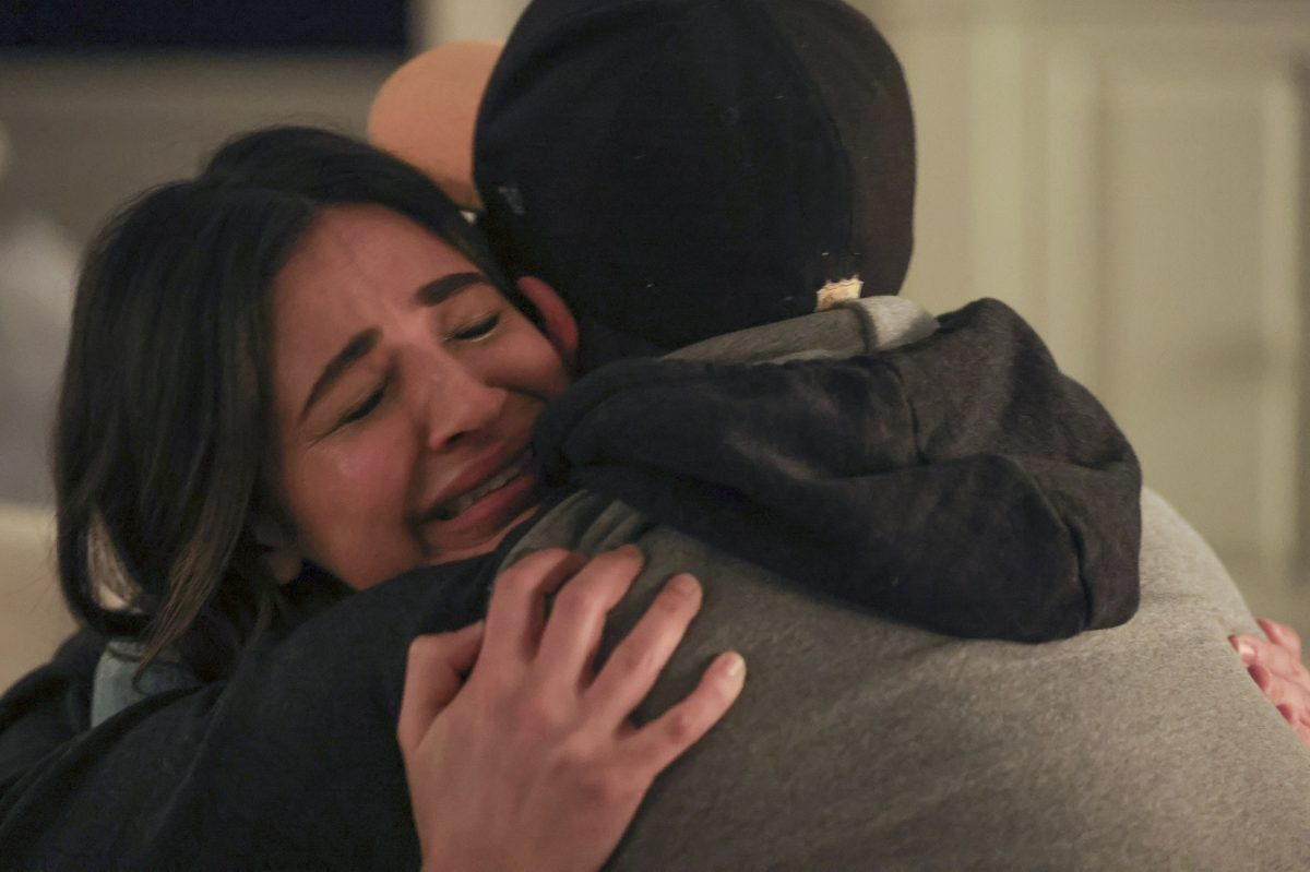A Million Little Things Season 3 promo Darcy and Gary hugging while Darcy cries