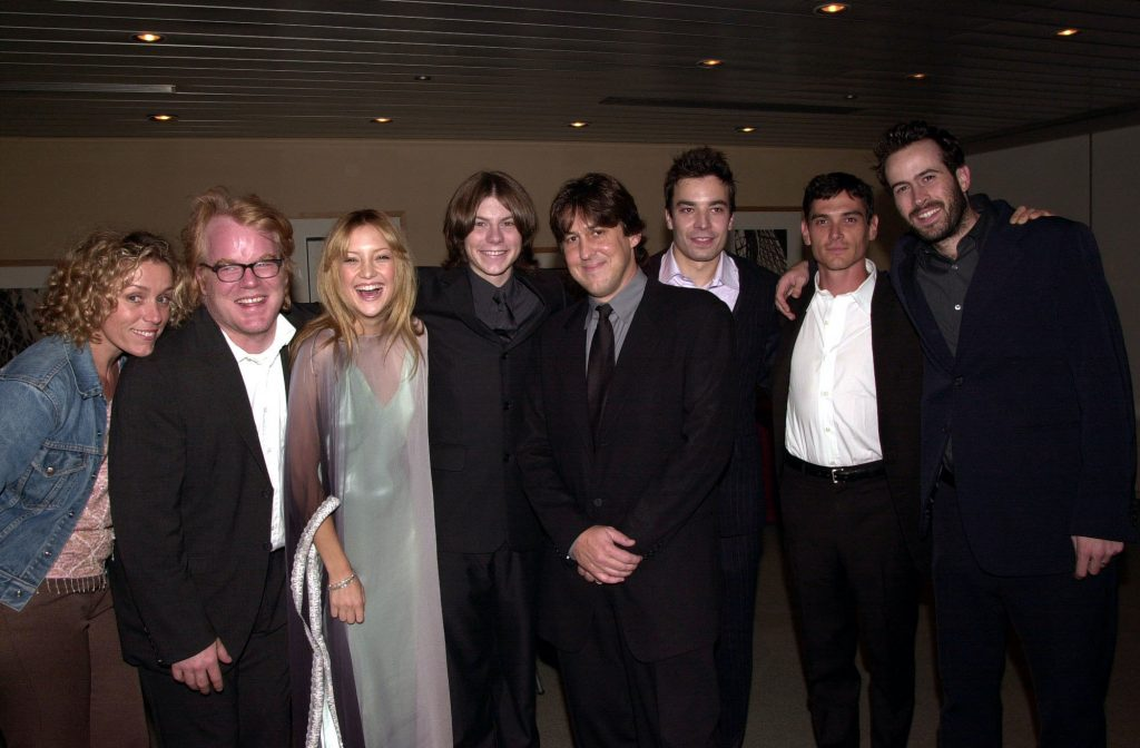 Almost Famous cast and crew smiling
