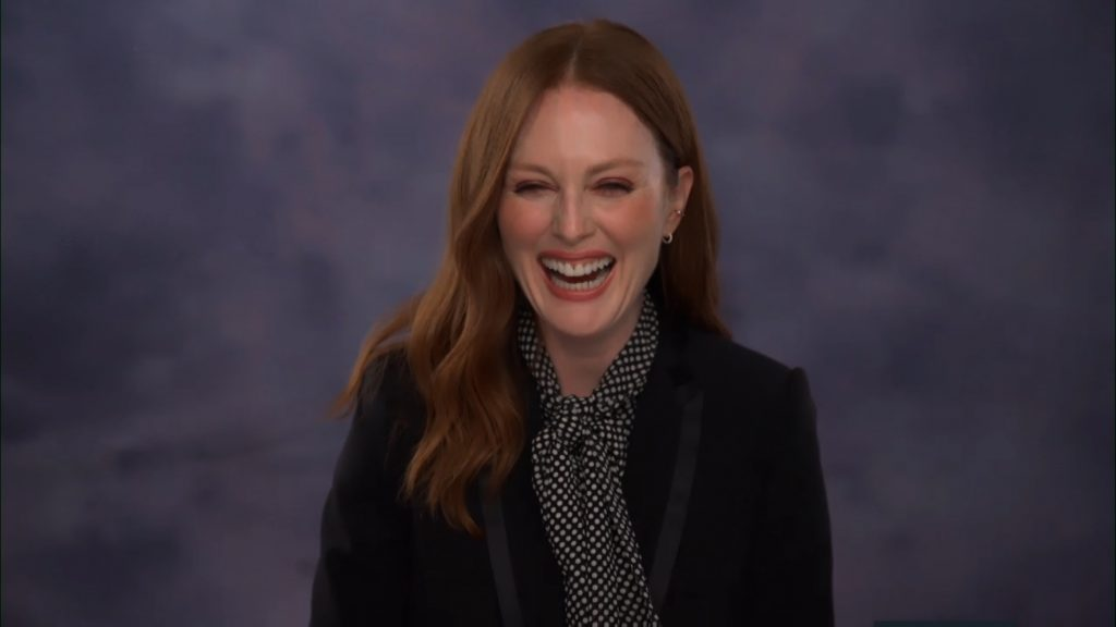 Julianne Moore visited the Tonight Show Starring Jimmy Fallon and discussed her Apple TV+ original series Lisey's Story